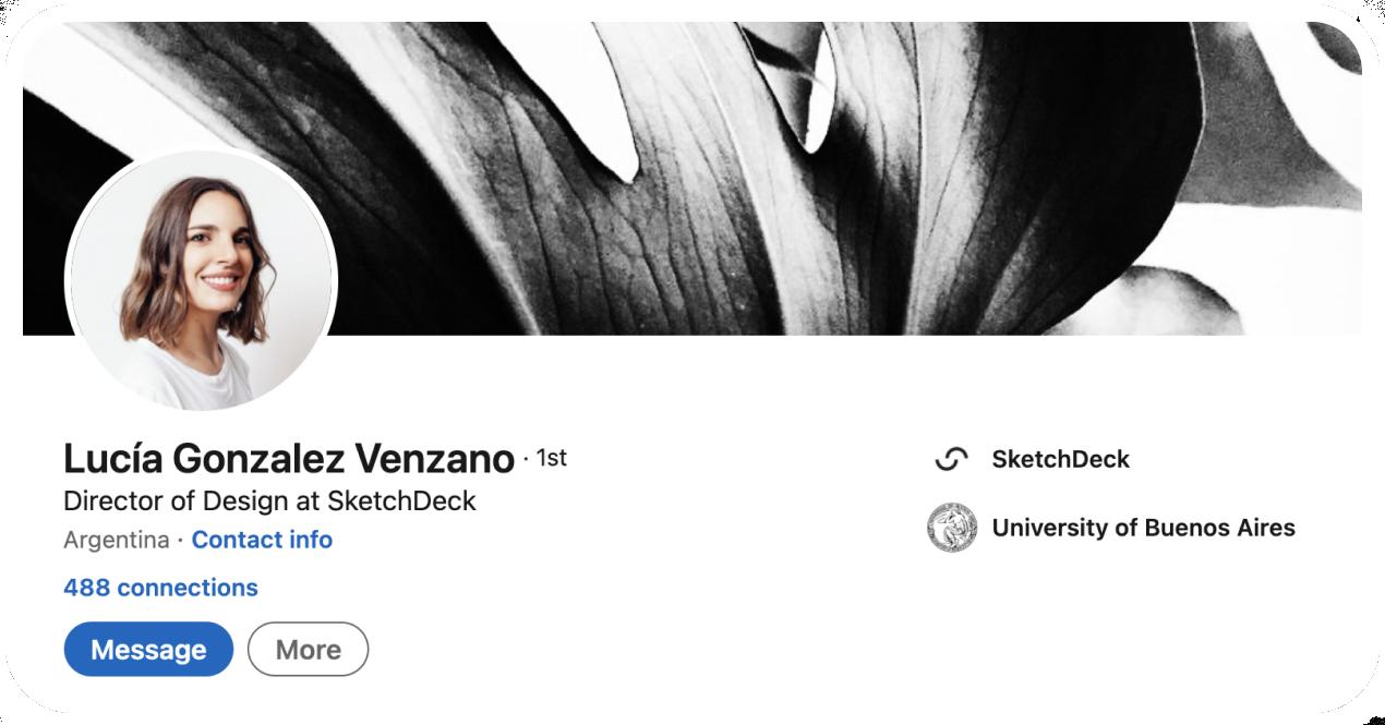 Lucia Venzano Linkedin